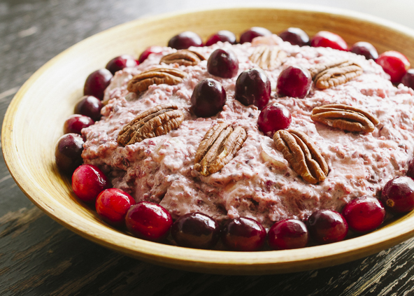 Cranberry Waldorf Salad with Coconut Whipped Cream   meljoulwan.com