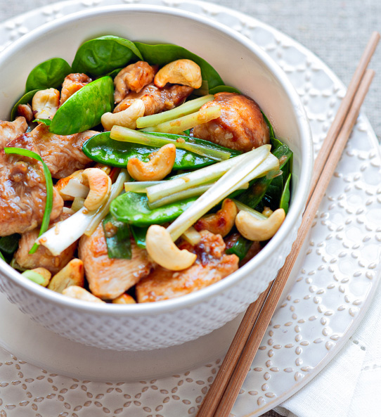 Paleo Cashew Chicken Stir-Fry Bowl from Well Fed